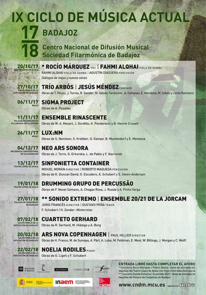 IX Ciclo de Música Actual de Badajoz