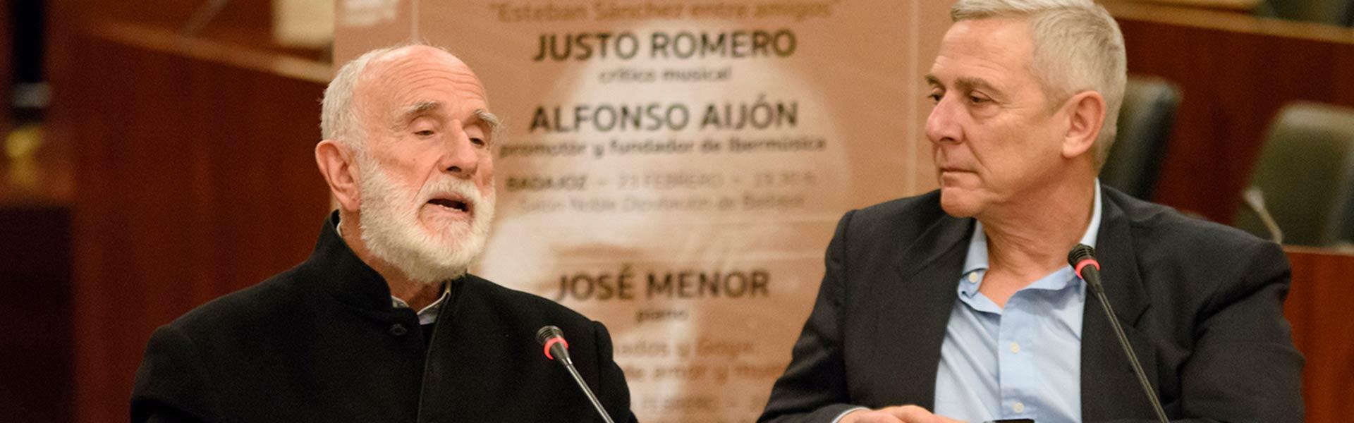 Alfonso Aijón y Justo Romero. Sociedad Filarmónica de Badajoz © Juan Hernández
