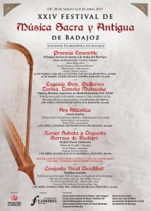 Cartel del XXIV Festival de Música Sacra y Antigua de Badajoz