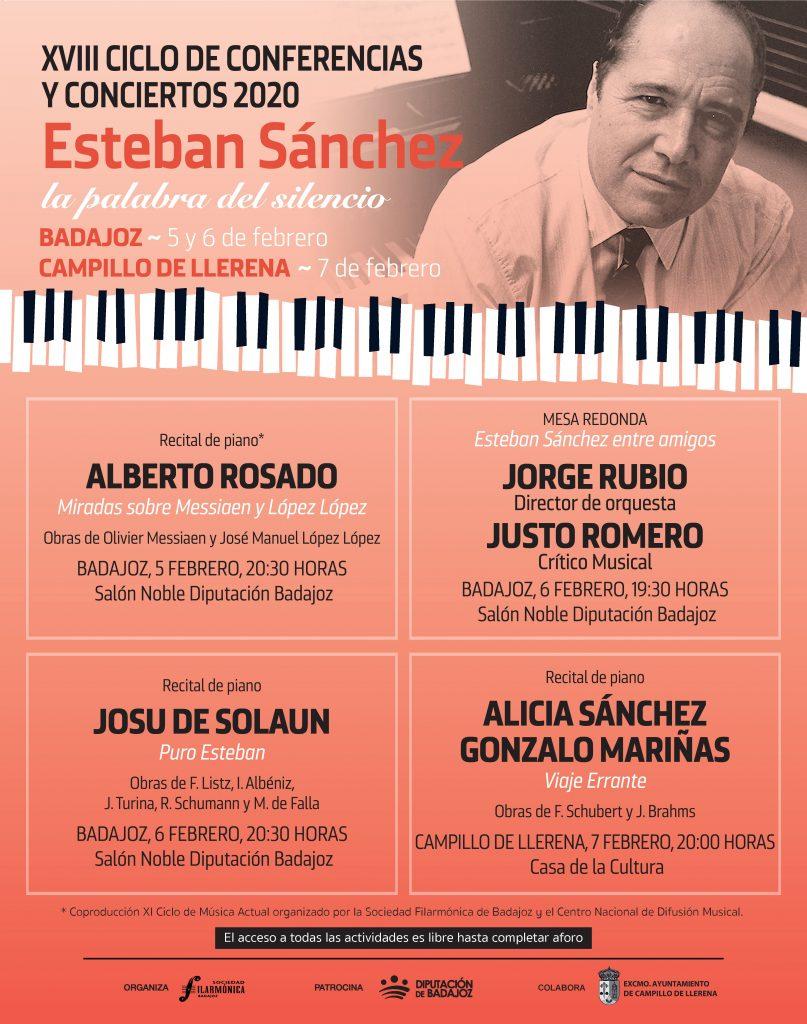 Cartel XVIII Ciclo de Conciertos y Conferencias 'Esteban Sánchez'