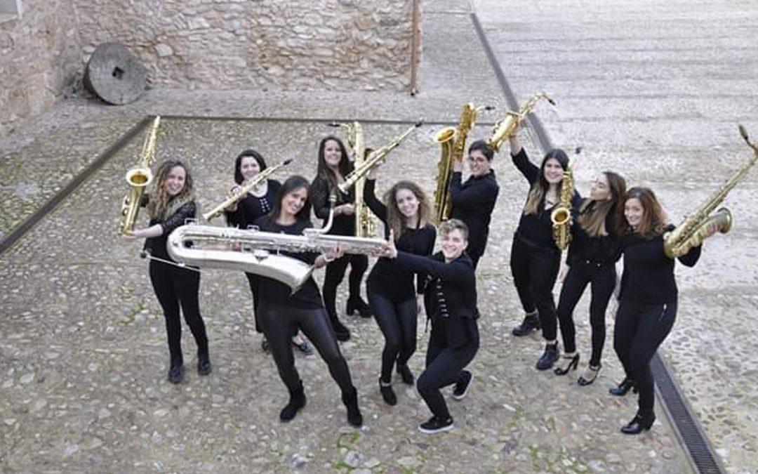 Mujeres saxofonistas de Músax presentan en Badajoz 'An-Danzas' por el Día de la Mujer
