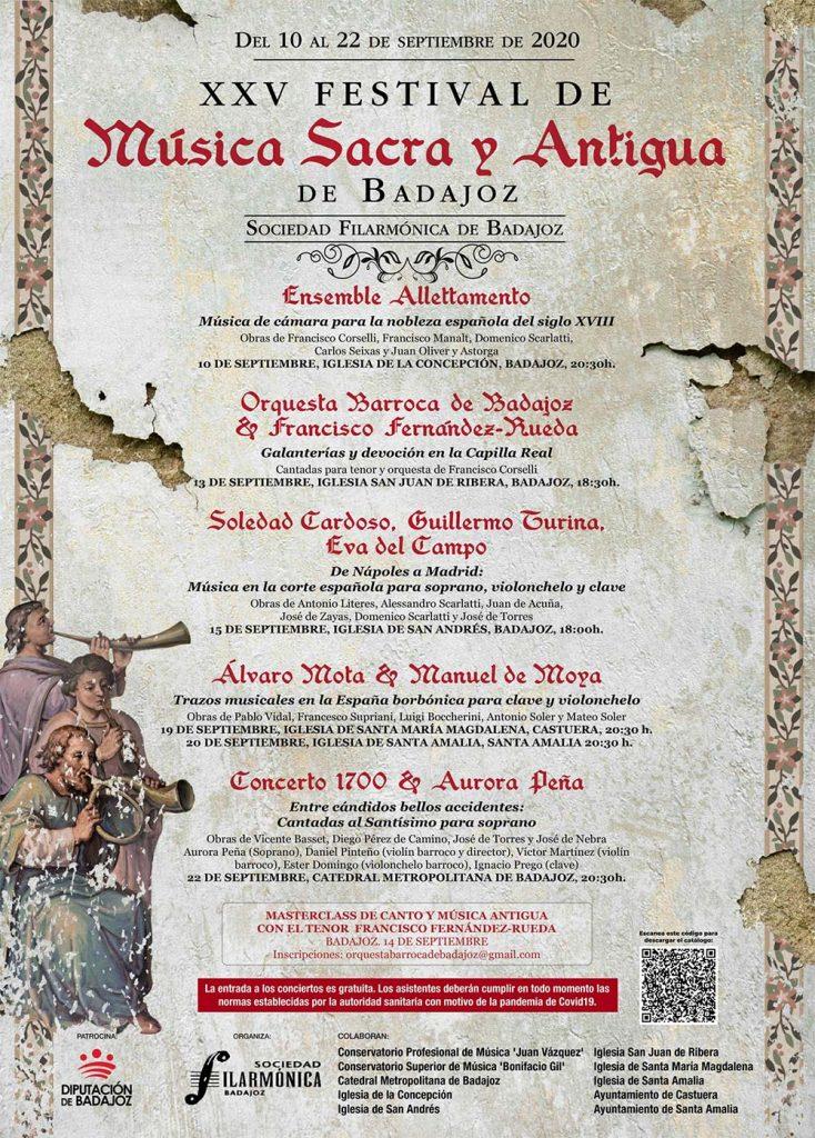 Cartel XXV Festival de Música Sacra y Antigua de Badajoz