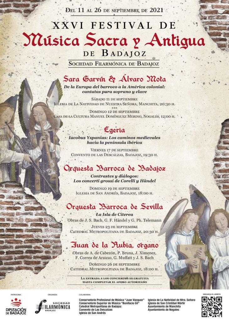 Protagonistas 26 Festival de Música Sacra y Antigua de Badajoz